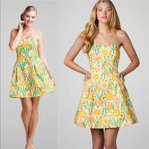 Lilly Pulitzer Blossom Dress Dobby Classic Daffies